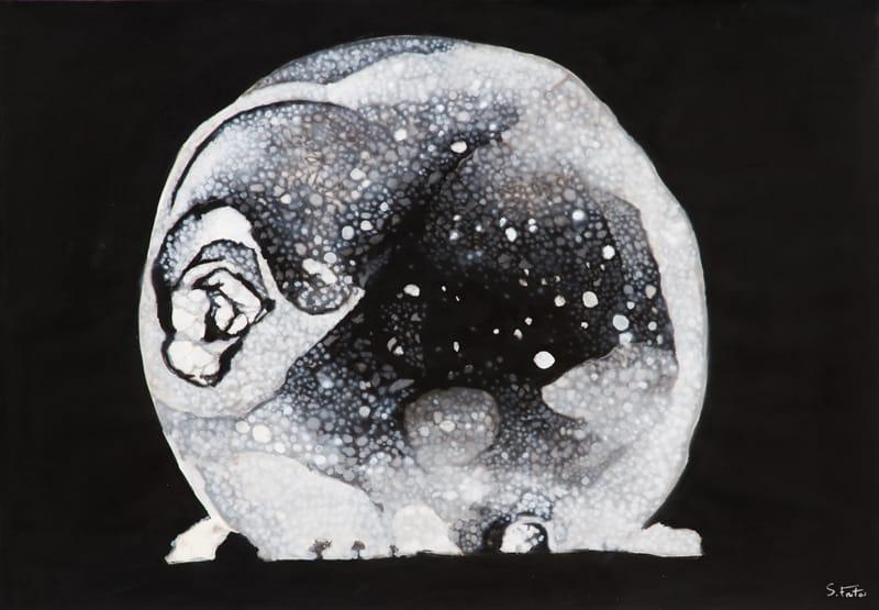 Trinity - 3ms. Acrylic on paper, 100 x 70 cm, 2017