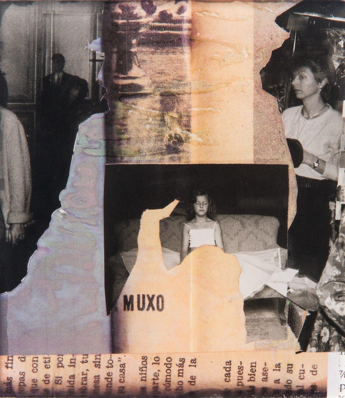 Muxo. Collage on acrylic, magnet, 10 x 10 cm, 2018