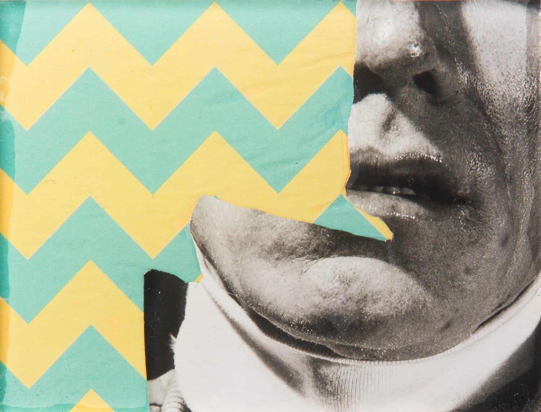 Warhol. Collage on acrylic, magnet, 11 x 9 cm, 2018