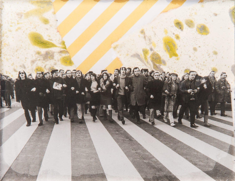 Berlin. Collage on acrylic, magnet, 11 x 9 cm, 2018
