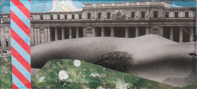 Venus. Collage on acrylic, magnet, 16 x 7 cm, 2018