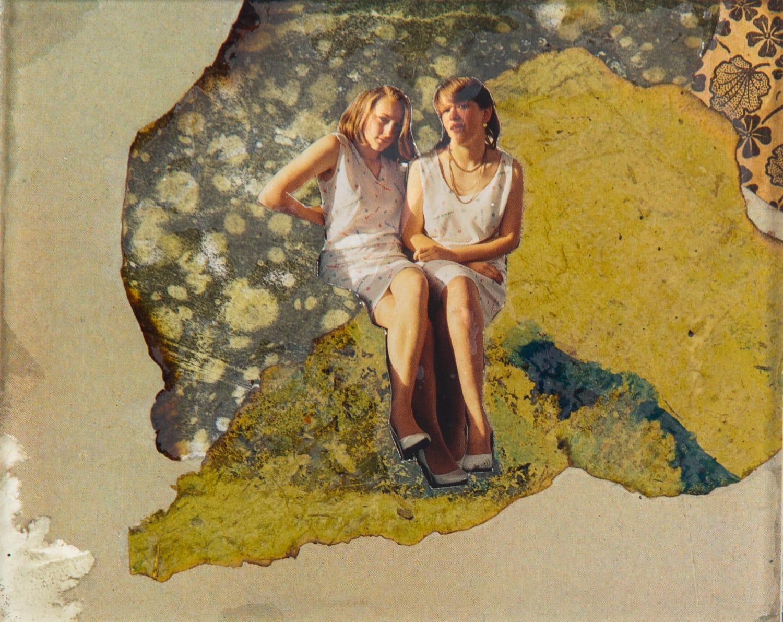 Parole. Collage on acrylic, magnet, 11 x 9 cm, 2018