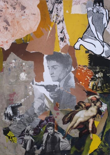Desire. Collage and acryl on wood, 40 x 60 cm, 2011