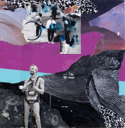 Other worlds III. Collage and acryl on wood, 25 x 25 cm, 2011