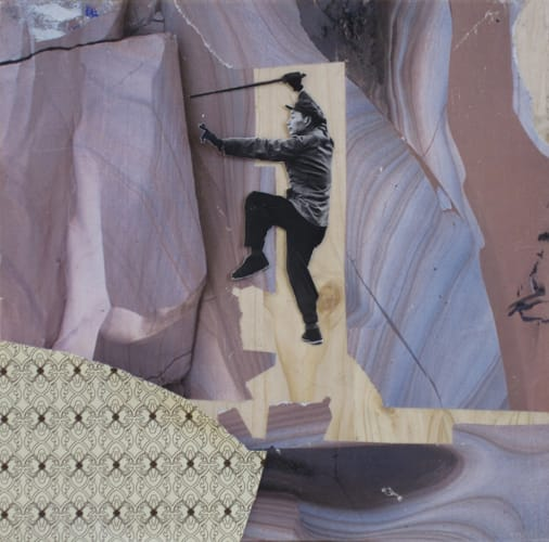 Other worlds VI. Collage and acryl on wood, 25 x 25 cm, 2011