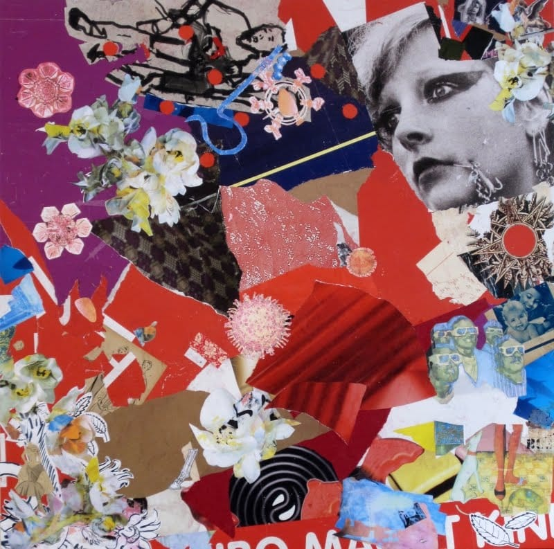 Untitled I. Collage and ink on wood, 150 x 150 cm, 2009