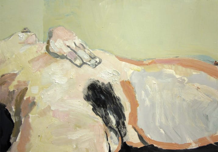Live Show 05. Oil on wood, 60 x 42 cm, 2011