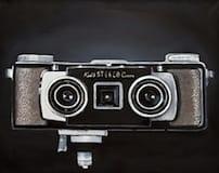 Kodak Stereo Camera. Oil on canvas, 100 x 80 cm, 2014