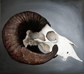 Ovis Orientalis. Oil on canvas, 170 x 150 cm, 2014