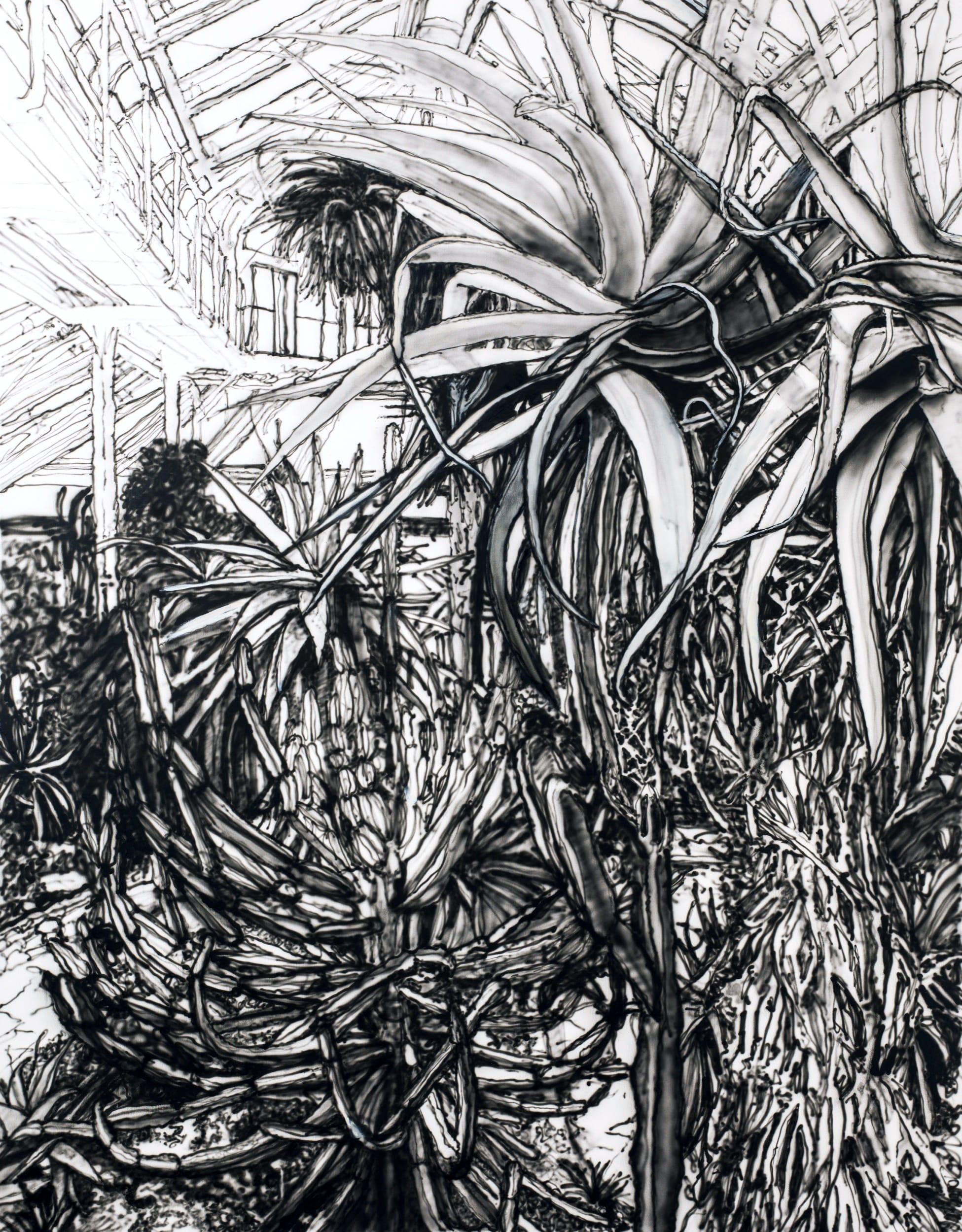 Palme. Oil on canvas, 110 x 140 cm, 2019
