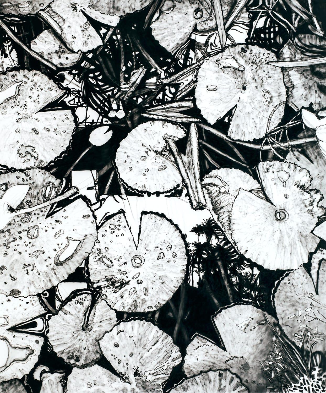 Seerosen. Oil on canvas, 100 x 120 cm, 2019