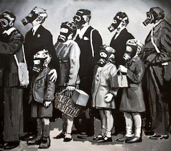 Test chamber. Acryl on canvas, 170 x 150 cm, 2014