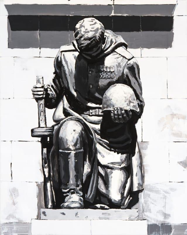 Unbekannter Soldat. Acryl on canvas, 80 x 100 cm, 2017