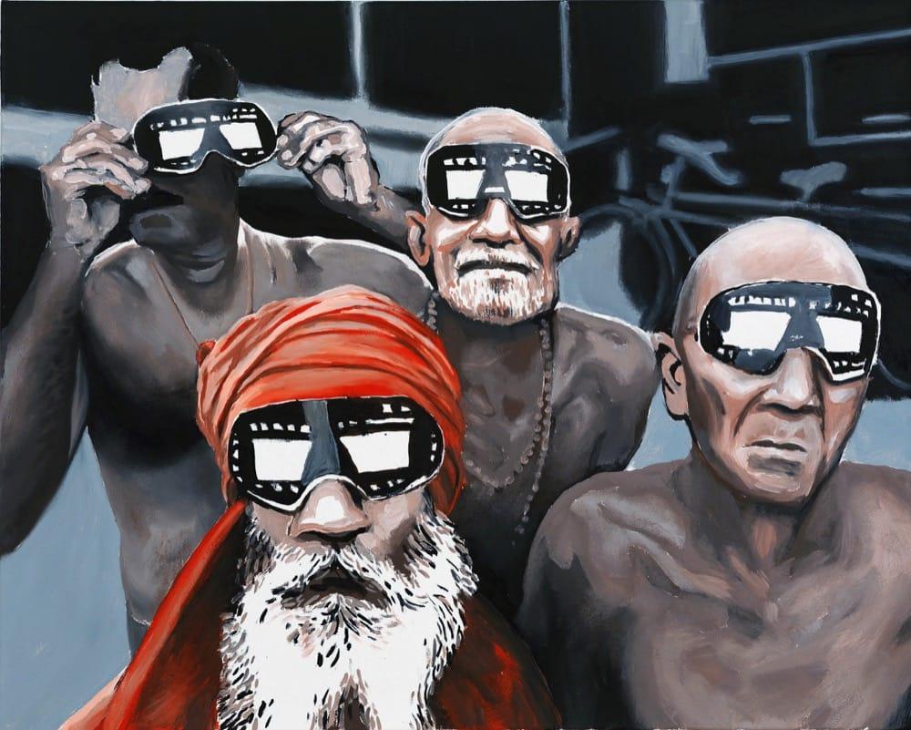 3D India. Oil on canvas, 100 x 80 cm, 2018