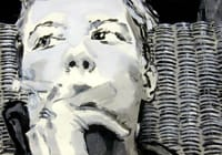 Violeta. Gouache on paper, 100 x 70 cm, 2012