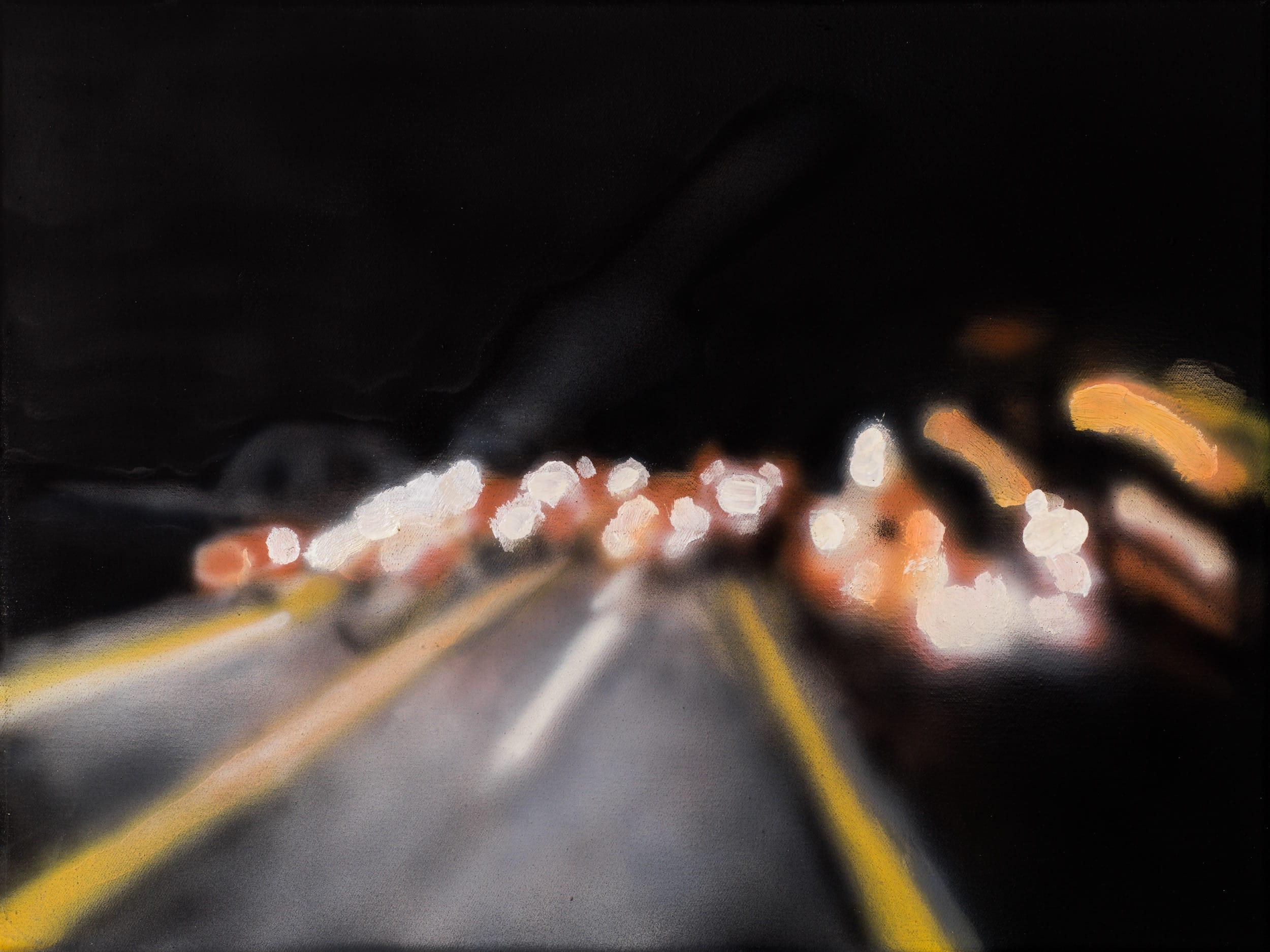 A2, Dortmund. Oil on canvas, 40 x 30 cm, 2019