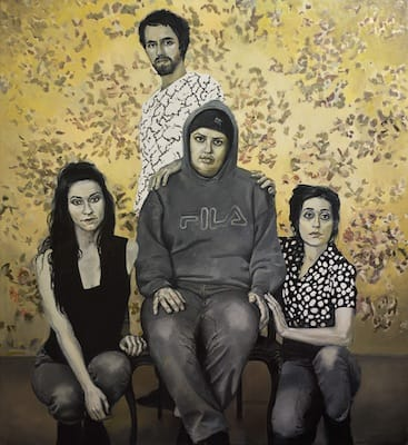 The Strange Family. Oil on canvas, 180 x 200 cm, 2013
