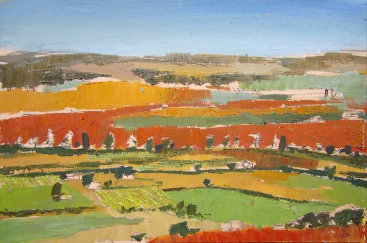 Campos de Castilla I. Oil on wood, 60 x 40 cm, 2011
