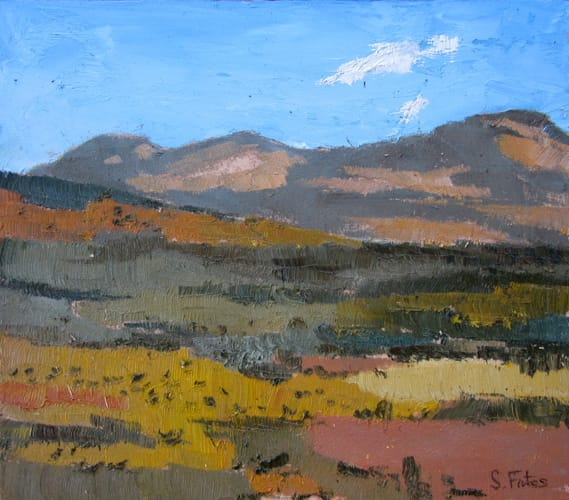 Campos de Castilla II. Oil on wood, 40 x 35 cm, 2011