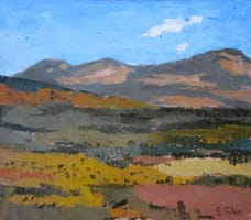 Campos de Castilla II. Oil on wood, 40 x 35 cm, 2011
