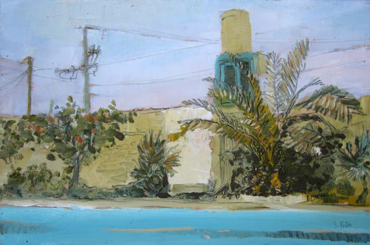 Piscina. Oil on wood, 60 x 40 cm, 2011