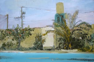 Piscina. Oil on wood, 60 x 40 cm, 2011