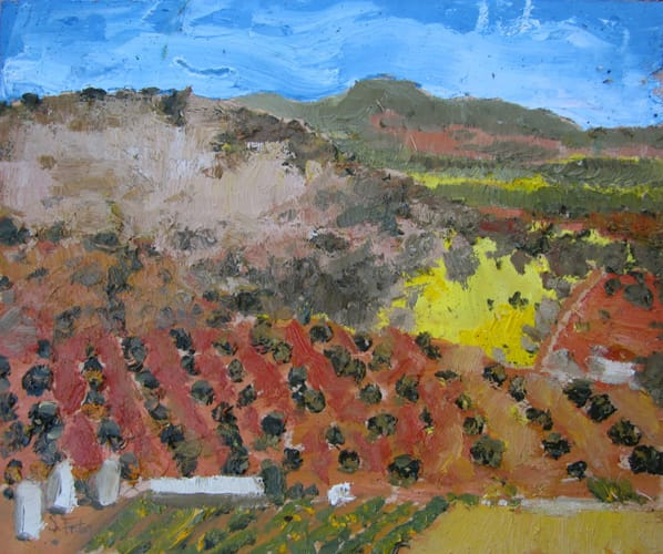 Campos de Castilla III. Oil on wood, 40 x 30 cm, 2011