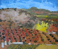 Campos de Castilla III. Oil on wood, 40 x 30 cm, 2011