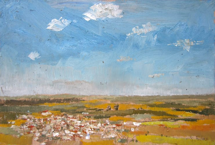 Villarrubia. Oil on wood, 60 x 40 cm, 2011