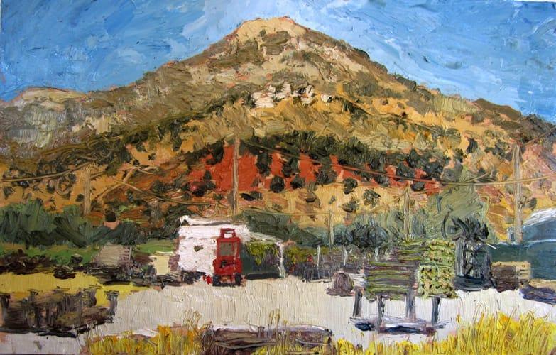 Pico de los Moros. Oil on wood, 50 x 30 cm, 2011