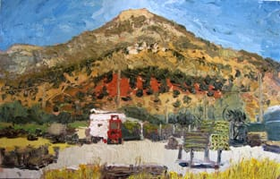 Pico de los Moros. Oil on wood, 50 x 30 cm, 2011