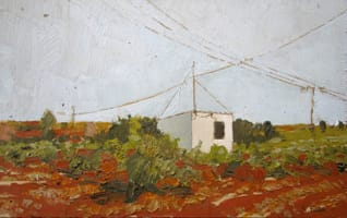 La caseta de Pablo. Oil on wood, 40 x 25 cm, 2011