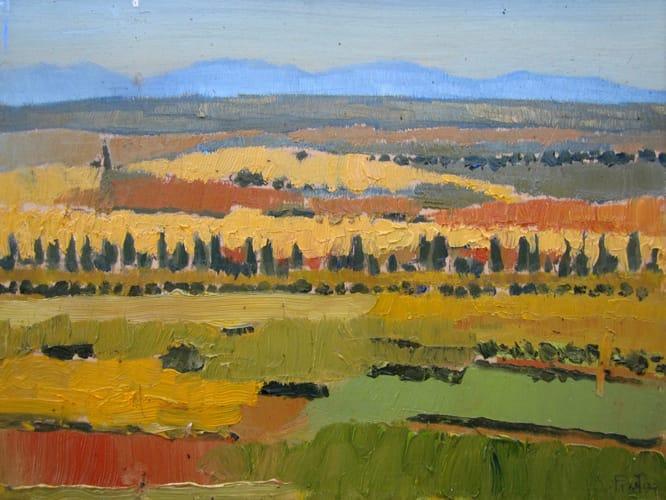 Campos de Castilla V. Oil on wood, 50 x 40 cm, 2011