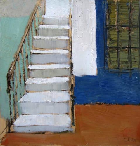 Escaleras. Oil on wood, 40 x 40 cm, 2011