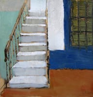 Escaleras. Oil on wood, 40 x 40 cm, 2011