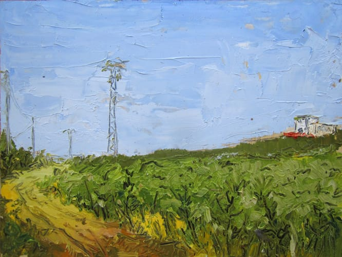 Campo. Oil on wood, 40 x 30 cm, 2011