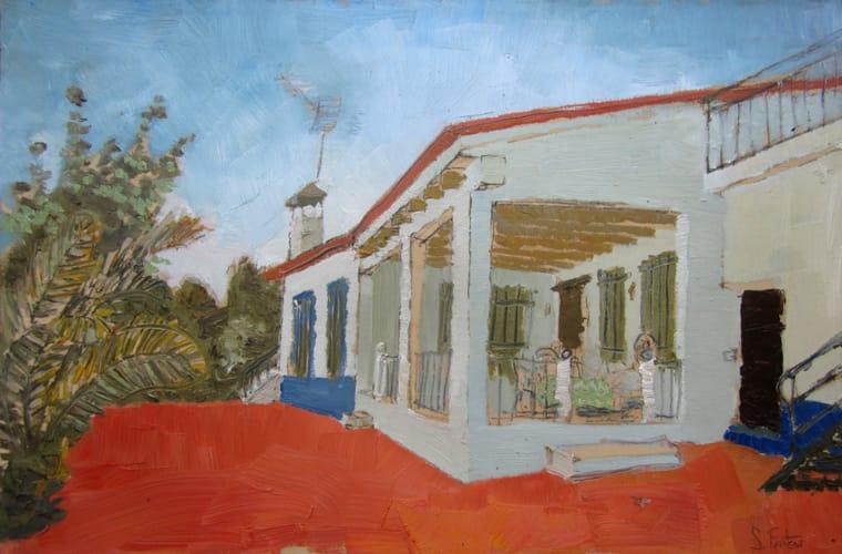 Patio. Oil on wood, 60 x 40 cm, 2011