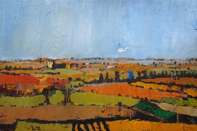 Campos de Castilla VI. Oil on wood, 40 x 40 cm, 2011