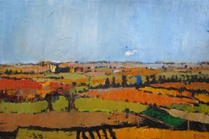 Campos de Castilla VI. Oil on wood, 40 x 40 cm, 2011