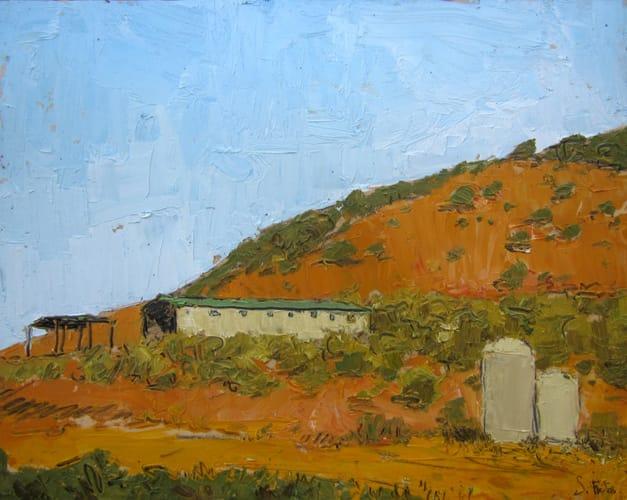 Tinajas. Oil on wood, 50 x 40 cm, 2011