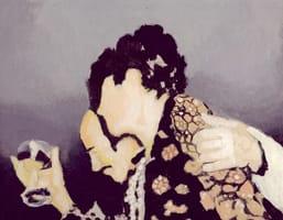 Brindis II . Gouache on cardboard, 25 x 20 cm, 2013