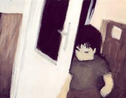 Fernando entrando . Gouache on cardboard, 25 x 20 cm, 2013