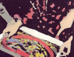 Juguete IV . Gouache on cardboard, 25 x 20 cm, 2013