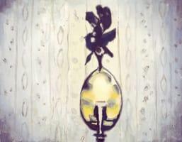 Lamp . Gouache on cardboard, 25 x 20 cm, 2013