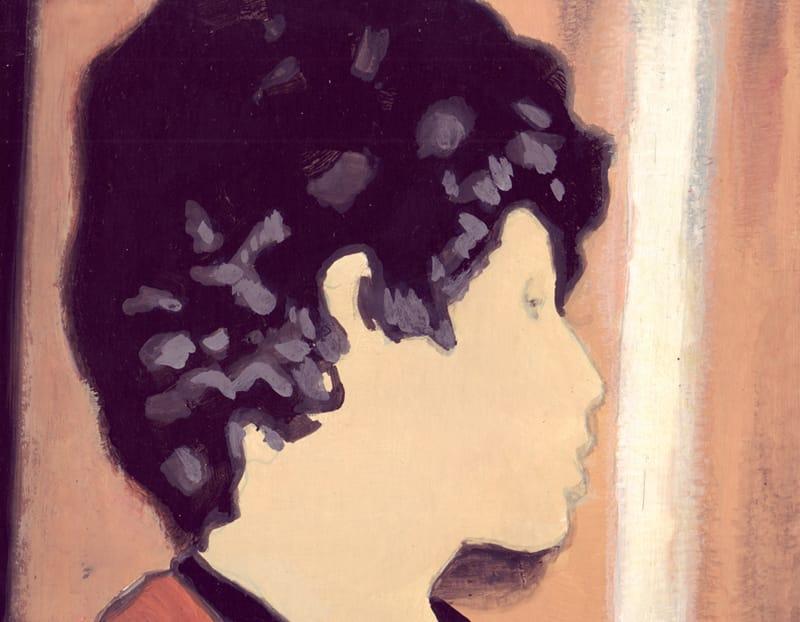 Maria Eugenia . Gouache on cardboard, 25 x 20 cm, 2013
