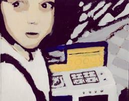 Marta II . Gouache on cardboard, 25 x 20 cm, 2013