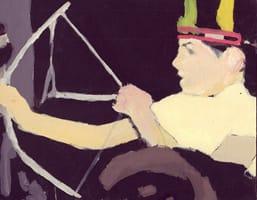Ricardo I . Gouache on cardboard, 25 x 20 cm, 2013