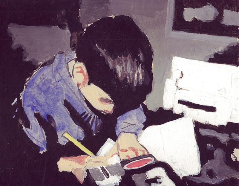Ricardo II . Gouache on cardboard, 25 x 20 cm, 2013