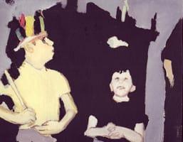 Ricardo y Fernando . Gouache on cardboard, 25 x 20 cm, 2013