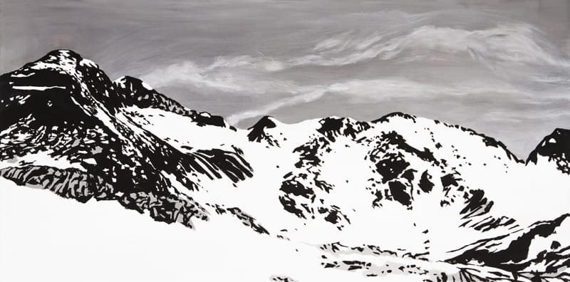 Perdiguero Peak. Acryl on canvas, 160 x 80 cm, 2017